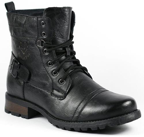 #2. Polar Fox MPX-508006 Black Men's Military Combat Work Desert Ankle Boot