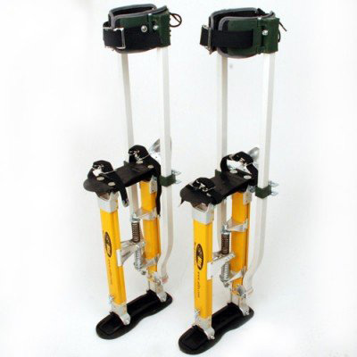 #5. SurPro S2.1 Dual Legs Support Magnesium Drywall Stilts
