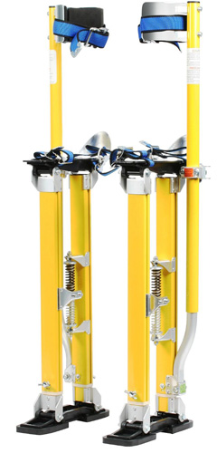 #3. Factory Refurbished Pentagon Tool Mag Pros Magnesium 24-40 Yellow Drywall Stilts