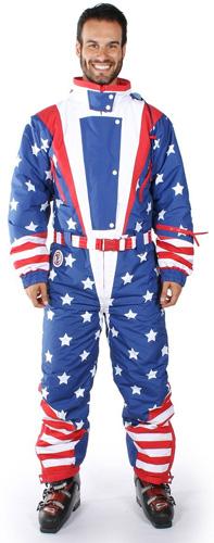 #1. American Flag USA Ski Suit