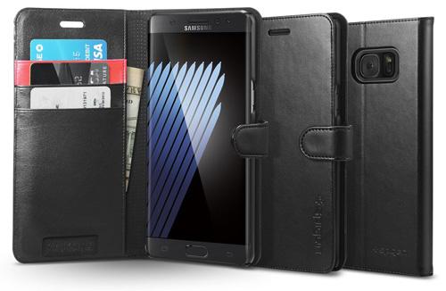 #7. Spigen Brand Premium Wallet Case With Stand Flip Cover for Samsung Galaxy Note 7