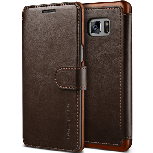 #2. Layered Dandy Galaxy Note 7 Case In Coffee Brown Leather By Versus