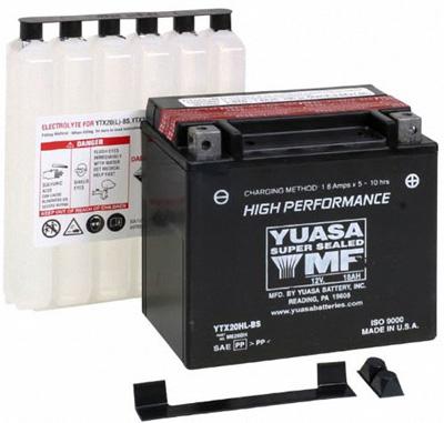 4. Yuasa YUAM620BH YTX20HL-BS Battery