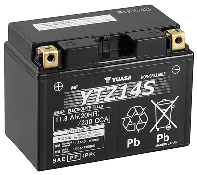 9. Yuasa YTZ14S Battery