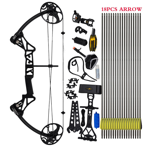 """3. Compound Bow Package,M1,19""""-30"""" Draw Length,19-70Lbs Draw Weight,320fps IBO"""