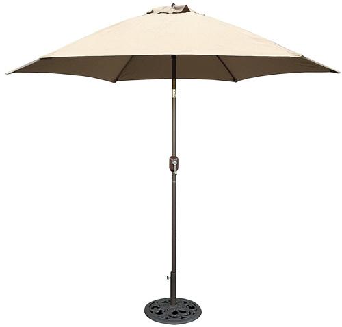 2. TropiShade 9 ft Bronze Aluminum Market Umbrella