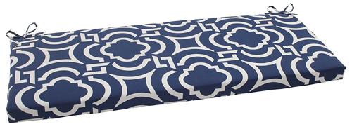 5. Pillow Perfect Indoor/Outdoor Carmody Bench Cushion, Navy