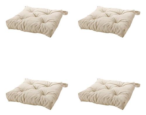4. Ikeas MALINDA Chair cushion, light beige-4 Pack