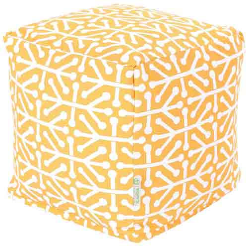 7. Majestic Home Goods Aruba Cube, Small, Citrus