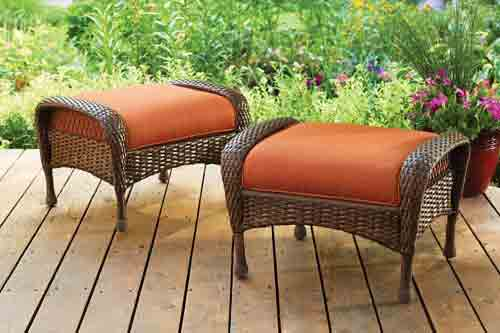 9. Azalea Ridge All-Weather Wicker Ottomans,