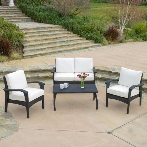 5. Voyage Outdoor Black 4pc Sofa Set
