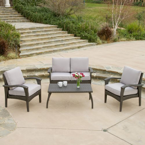 10. Voyage Outdoor 4pc Grey Sofa Set