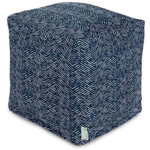 4. Majestic Home Goods Navajo Cube, Small, Navy