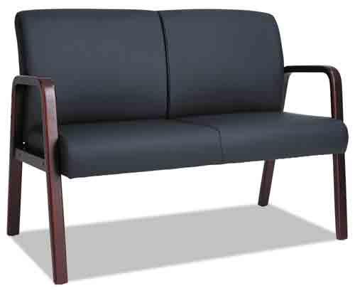 6. Alera RL LOVESEAT Reception Lounge Series Wood Loveseat