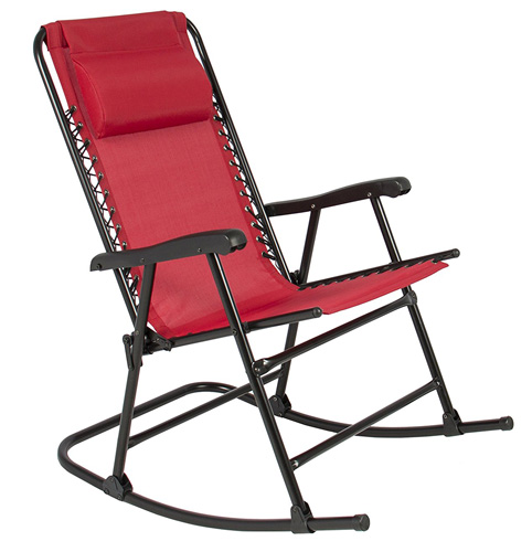 1. Best Choice Products Folding Rocking Chair Foldable Rocker Outdoor Patio Furniture Red