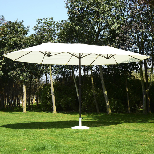 3. Outsunny 15' Outdoor Patio Market Double-Sided Umbrella