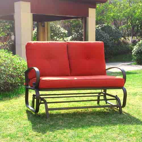 4. Cloud Mountain Outdoor Patio 2 Person Loveseat
