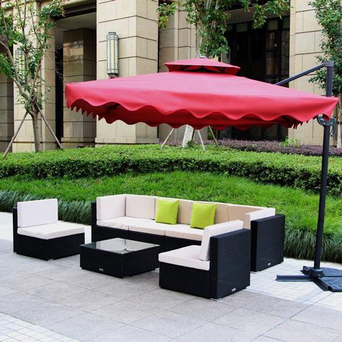 9. U-max 7 Piece 3-7 Pieces Patio PE Rattan Wicker Sofa Sectional Furniture Set