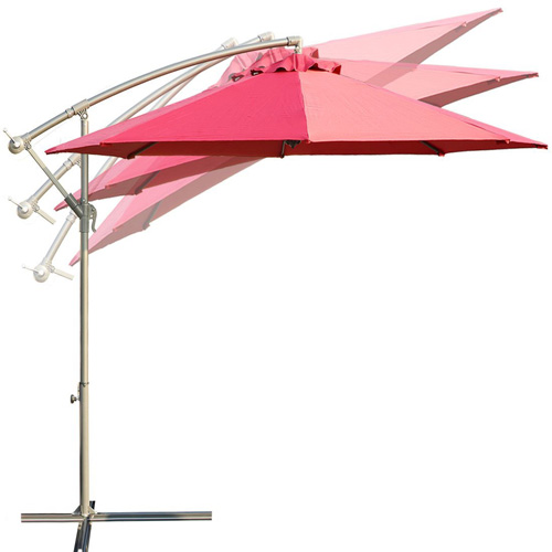 7. Balichun 10 feet offset cantilever hanging patio umbrella