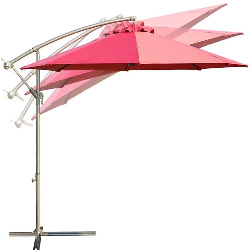 7. Balichun 10 feet offset cantilever hanging patio umbrella