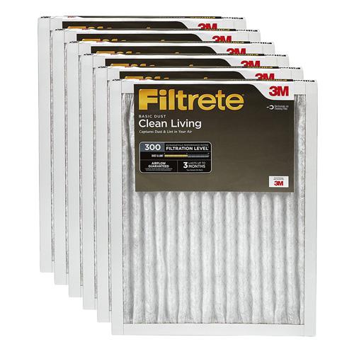 1. Filtrete Clean Living Basic Dust Filter,