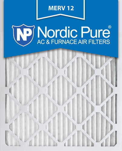 4. Nordic Pure 20x25x1 AC Furnace Air Filters MERV 12, Box of 6