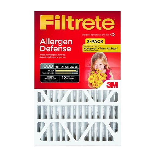 8. Filtrete Micro Allergen Defense Deep Pleat Filter, MPR 1000, 20-Inch x 25-Inch x 4-Inch