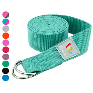 4. Wacces D-Ring Buckle Cotton Yoga Straps