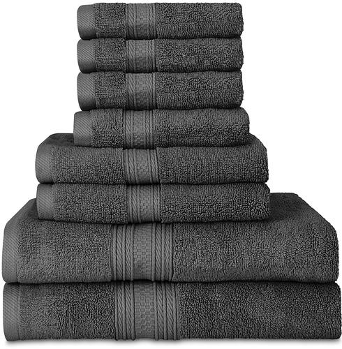 8.Utopia Towels Premium 700 GSM 8 Piece Towel Set