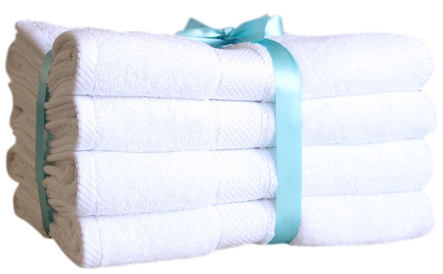 6. Ariv Collection Premium Bamboo Cotton Bath Towels, ivory cream