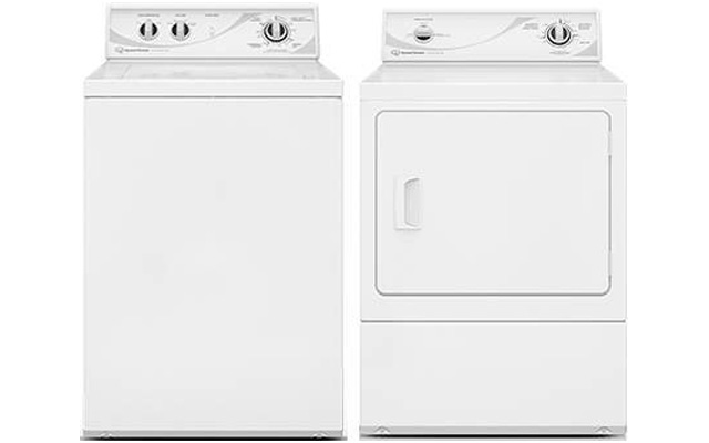 6. Speed Queen White Top Load Laundry set