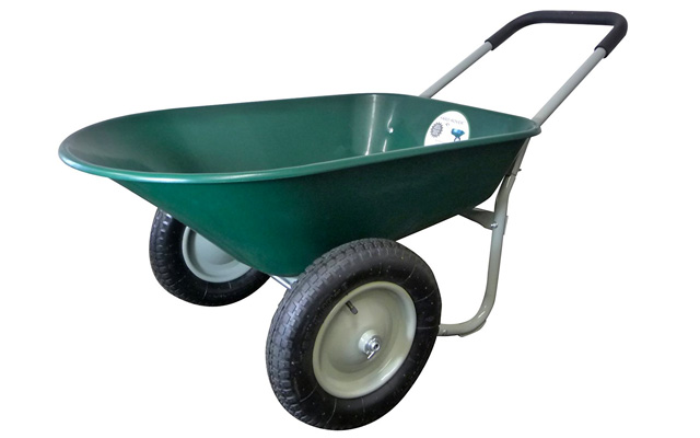 3. Marathon dual wheel residential yard rover wheelbarrow and yard cart.