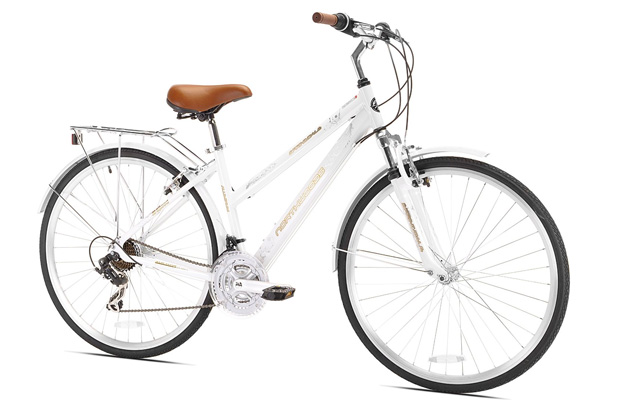 4. Northwoods Springdale women's 21 speed hybrid bicycle.