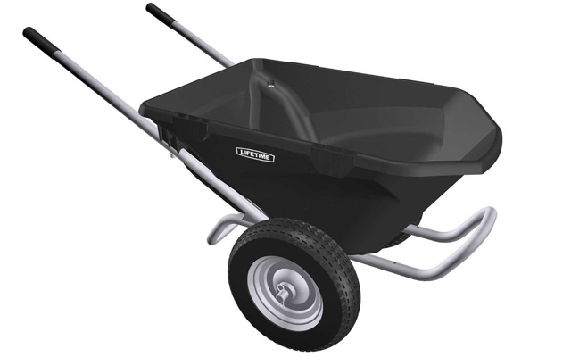 5. Lifetime 65034 two wheel wheelbarrow.