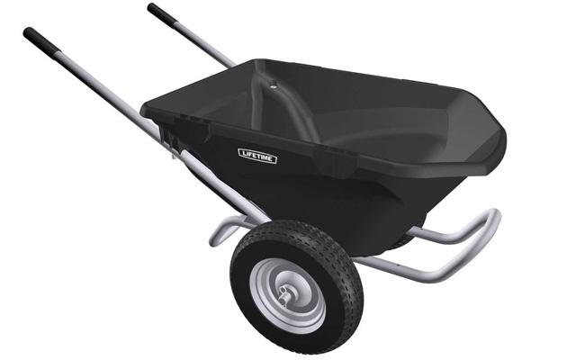 5. Lifetime 65034 two wheel wheelbarrow.
