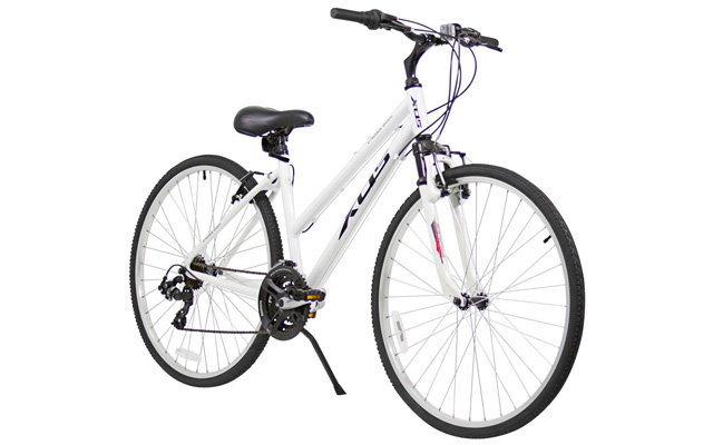 5. XDS women's cross 200 21-speed step through hybrid bicycle.