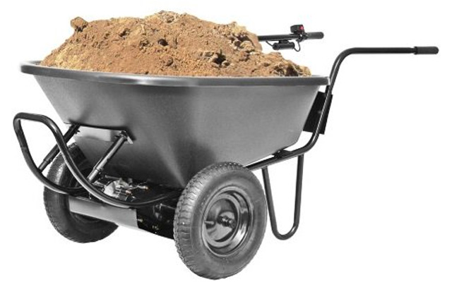 8. PAW electric battery power wheelbarrow.
