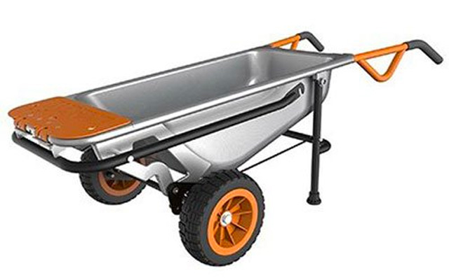 1. Worx aerocraft multifunction 2-wheeled yard cart.