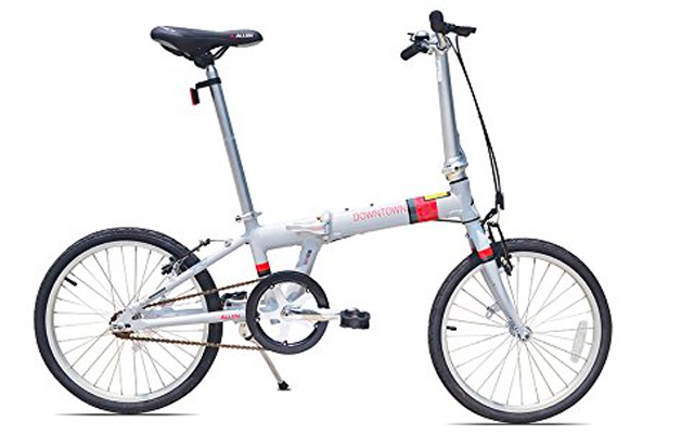 5. Allen sports downtown aluminum 1 speed folding bicycle.