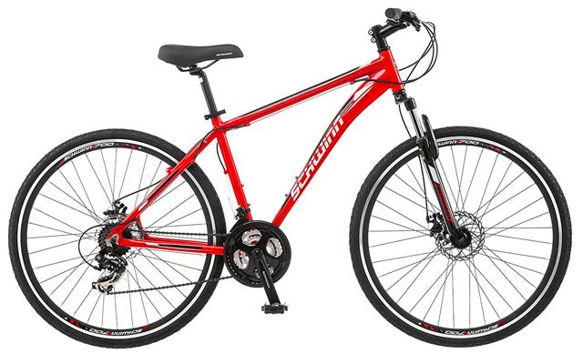 8. Schwinn GTX 2.0 700c men's dual 18 sport bike.
