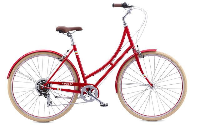 10. PUBLIC BIKES women's C7 Dutch style 7-speed city bike.