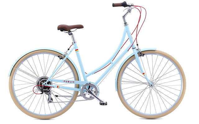 9. Public bikes women's C7 speed city bike.