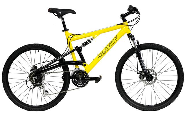 7. Gravity FSX 1.0 dual full suspension mountain bike.