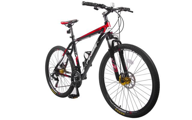 "1. Merax finish 26"" aluminum 21speed mountain bike."