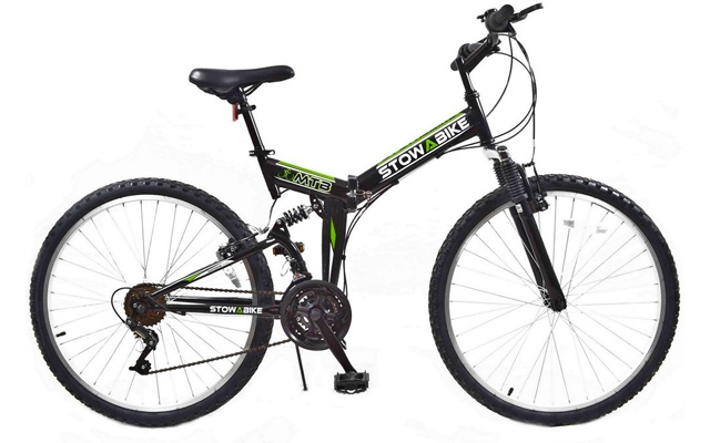 "2. Stowabike 26"" MTB V2 folding dual suspension 18 speed shimano gears mountain bike."