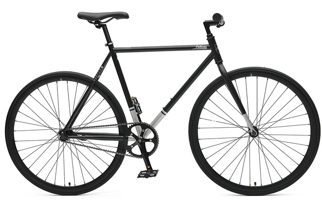 5. Critical cycles harper coaster fixie style single speed commuter bike with foot brake.