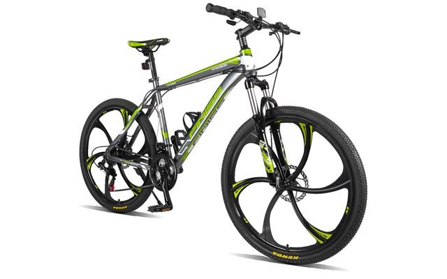 "2. Merax finiss 26"" aluminum 21 speed Mg alloy wheel maintain bike."