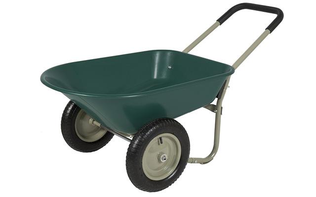 2. Best choice products dual wheel home wheelbarrow yard garden cart.