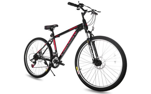 "4. Merax 26"" dual disc brakes 21 speed hard tail mountain bike."