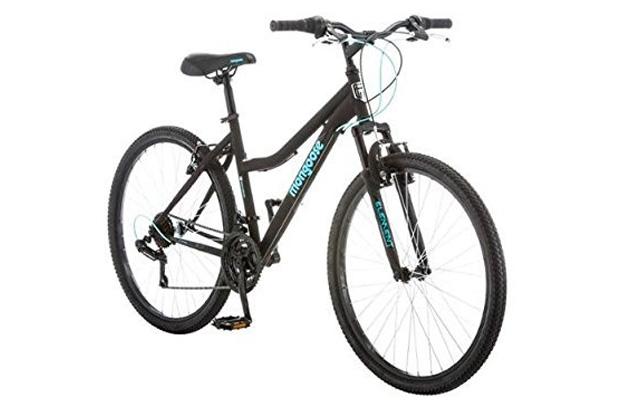 3. Mongoose 26 inch excursion durable steel frame ladies mountain bike.